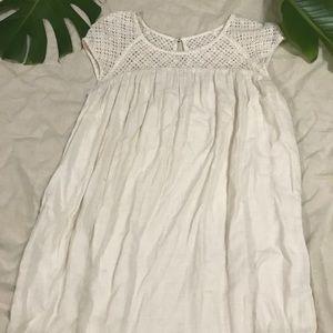 Baby doll dress  white cotton Merona s/p